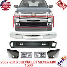 Front Bumper Chrome Ends Valance Fog For 2007 2013 Chevy Silverado 1500 Fits 2013 Silverado 1500