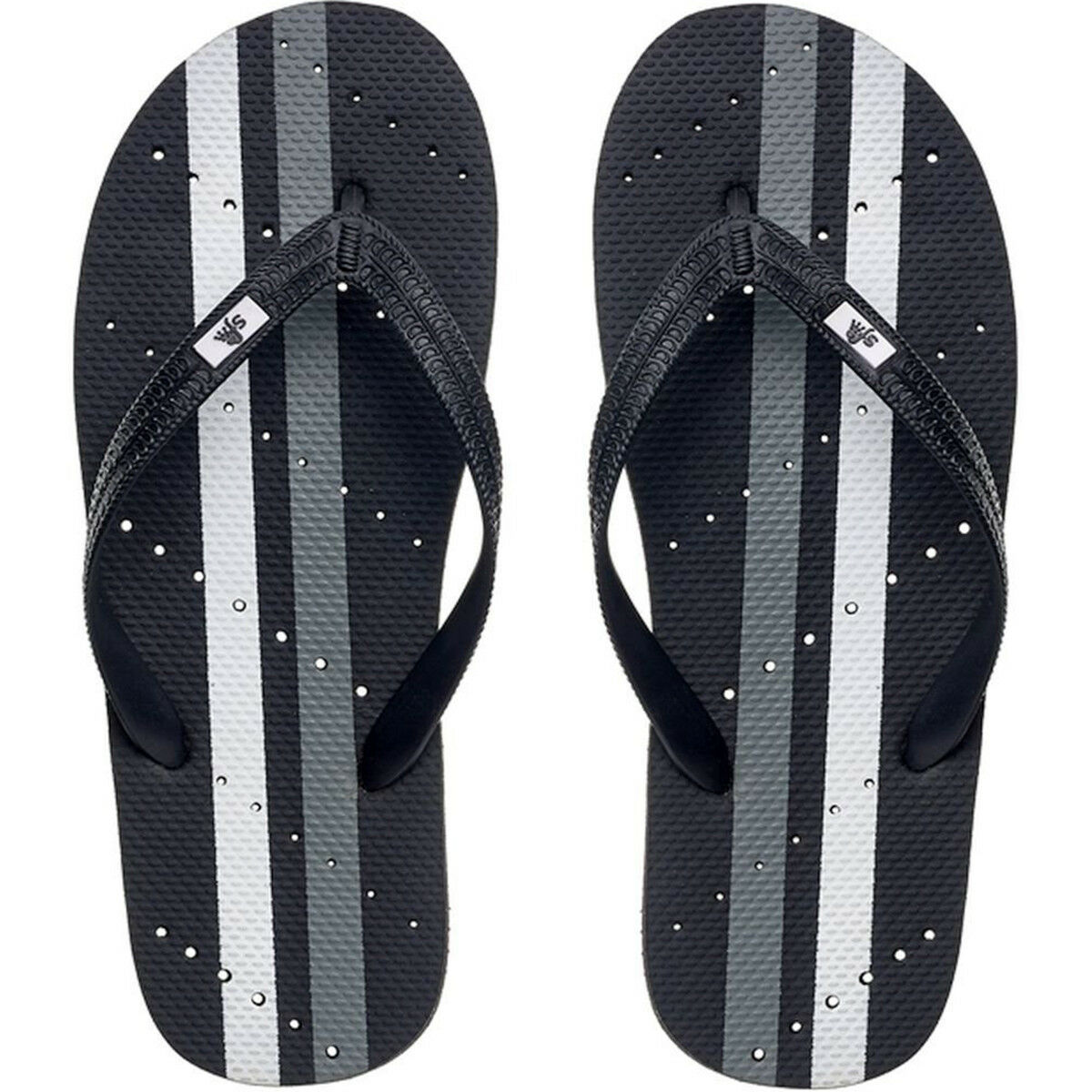 Showaflops Sandals Antimicrobial Shower and Water Sandals Showaflops - Black/Gray/White Stripe b228d6
