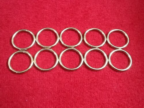 x10 Welded O-Rings Brass /& Nickel Plated Various Sizes Webbing Bags Straps Leads