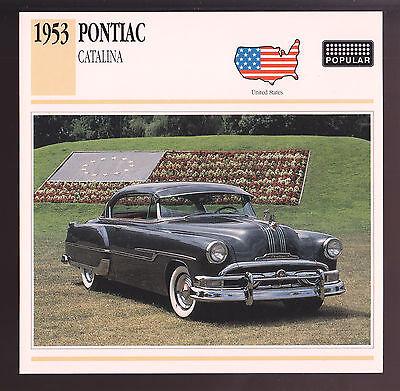 1953 Buick Skylark Convertible Car Photo Spec Sheet Info Stat ATLAS CARD