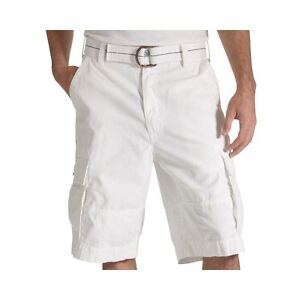 312834b4 Levi's Squad Cargo Shorts with Belt Size 31W New Msrp $56.00 White ...