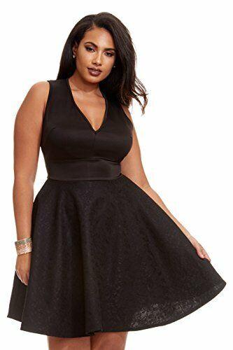 Fashion to Figure Women\'s Plus Size Harlow Lace Flare Dress 2x