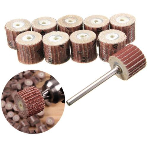 10x 80# Grit Sanding Flap Wheel Disc Sandpaper Polishing Pad Shank Rotary Tools