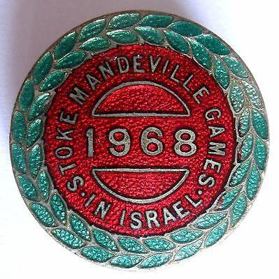 3rd PARALYMPIC GAMES TEL AVIV, ISRAEL 1968 VERY RARE ENAMEL BADGE