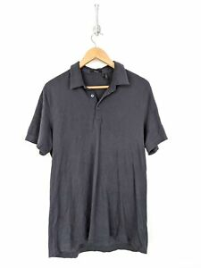 Theory-Polo-Shirt-Men-Large-Blue-Pima-Cotton