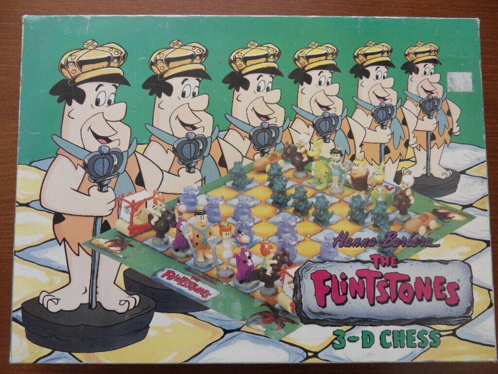 THE FLINTSTONES Pierrafeu vintage   Jeu d'échecs 3D chess 1993