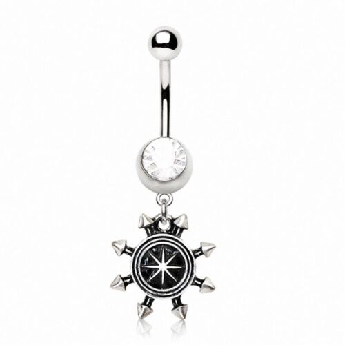 Piercing navel compass water