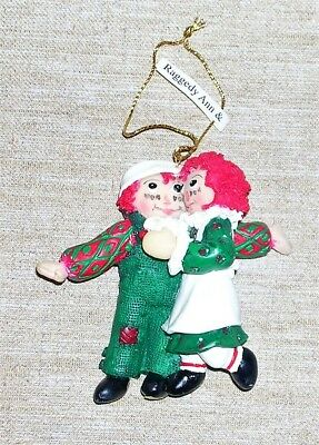 Raggedy Ann /& Andy Ornaments Set of 3