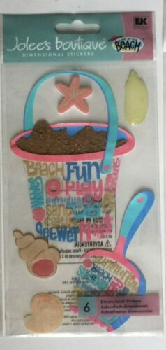 Jolees Boutique Dimensional Sitckers Shovel Bucket OR Tropical Fish OR Cruise