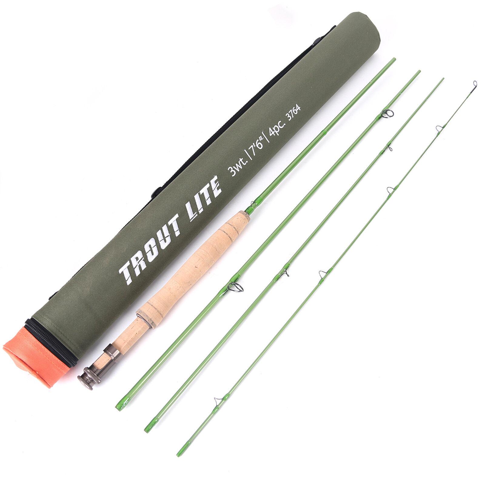 Maxcatch Troutlite Fliegenfischen Rute IM12 Kohlefaser 4 Teile Rute für Forelle