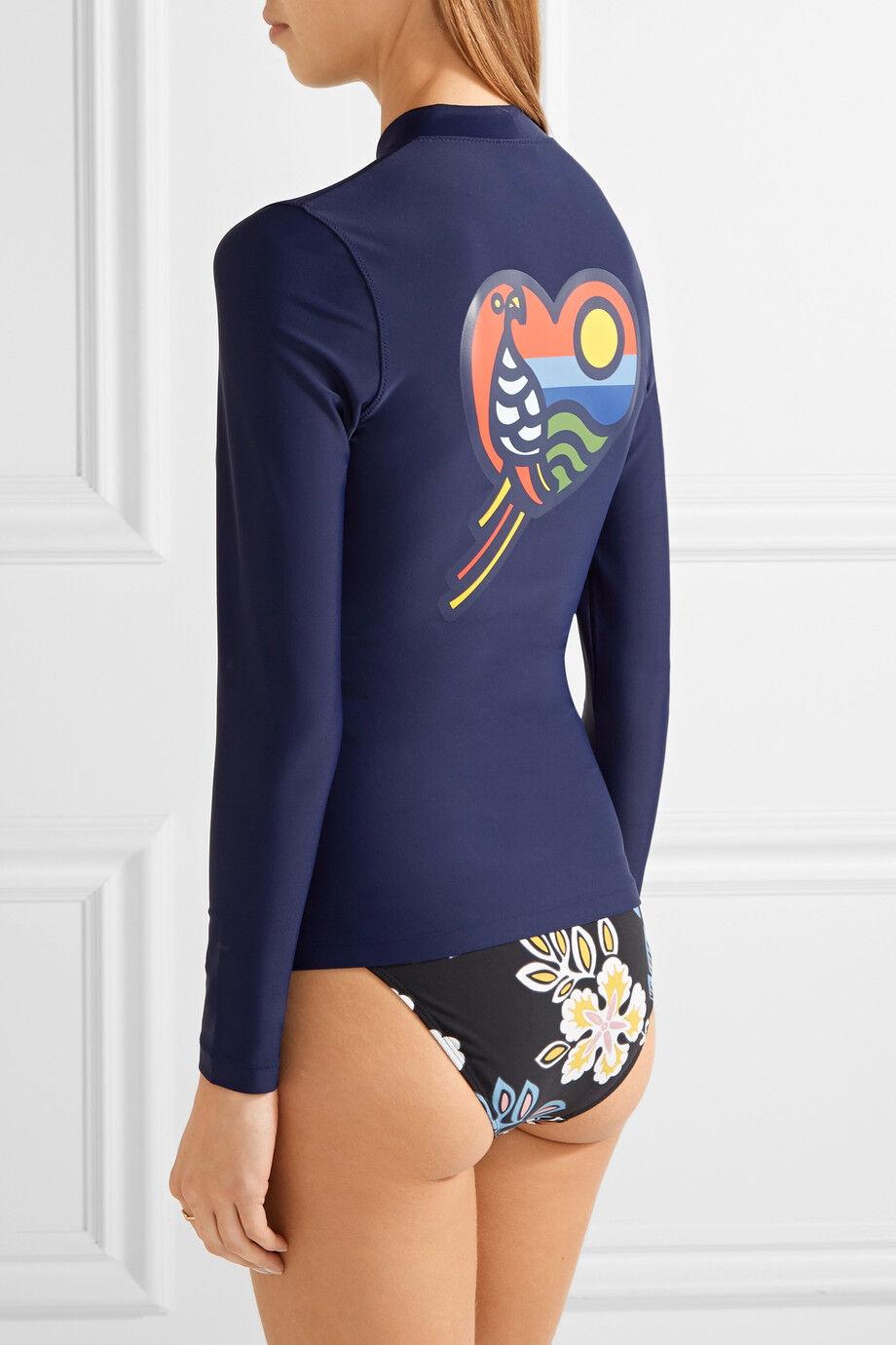 Tory Burch Navy Surf Shirt bluee  NWT Swim S Beach rashguard  198 Macaw