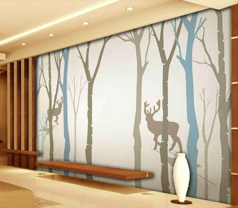 Climbing Deer 3D Full Wall Mural Photo Wallpaper Printing Home Kids Decoration