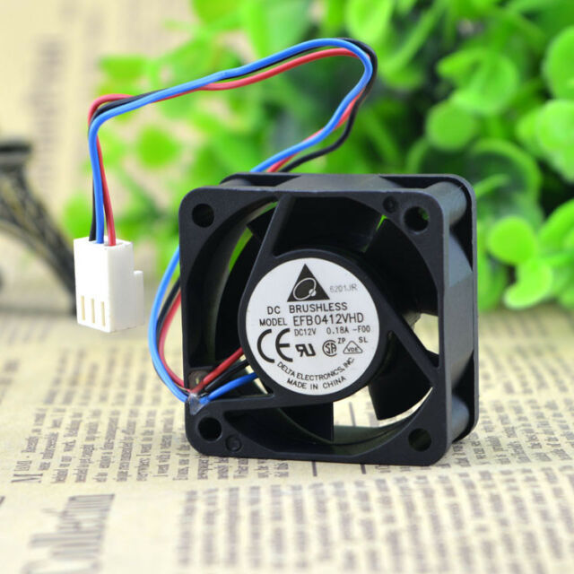 for Delta EFB0412VHD F00 40x40x20mm 4020 12V 0.18A DC BRUSHLESS Fan 3pin