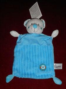 Doudou-plat-Ours-Blanc-Bleu-Cotele-Poussin-oreilles-pois-Nicotoy-Neuf-4-dispo