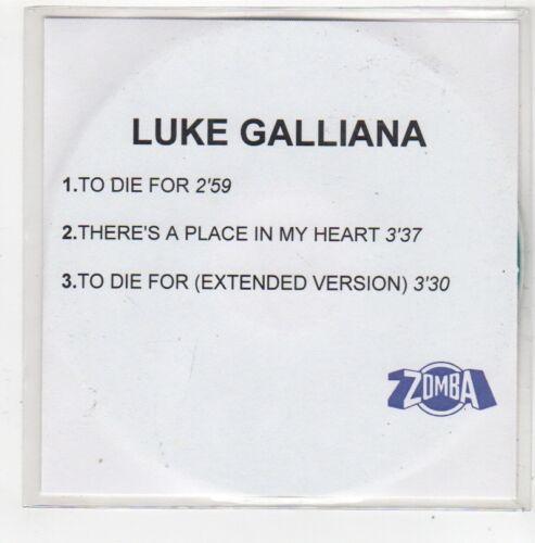 1 of 1 - (FN699) Luke Galliana, To Die For - 2001 DJ CD