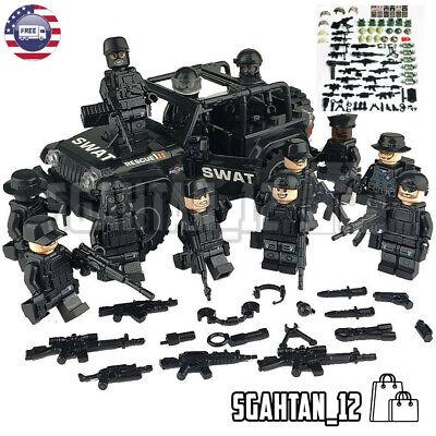 Custom SET Military minifigure Bicks Swat Police Army Team Fit Lego Toys