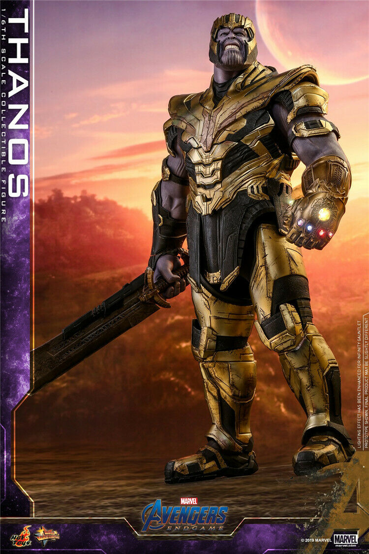 1 6 Scale Avengers Endgame Thanos+Infinity Gauntlet Hot Toys MMS529 16  Figures