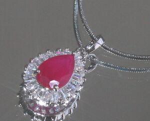 Sparkling-2-5ct-Created-Ruby-amp-Diamond-Drop-Pendant-Necklace
