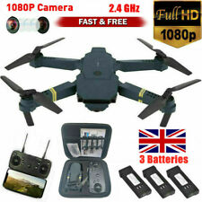 Drone X Pro WIFI FPV 1080P HD Camera 3 Batteries Foldable Selfie RC Quadcopter ~