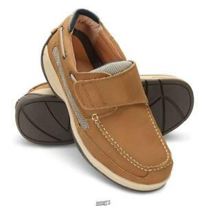 cheap prices new concept hot sales Details about Pedilite Adjustable Width Neuropathy Oliver Tan Velcro Deck  Shoes Men's 12 Wide