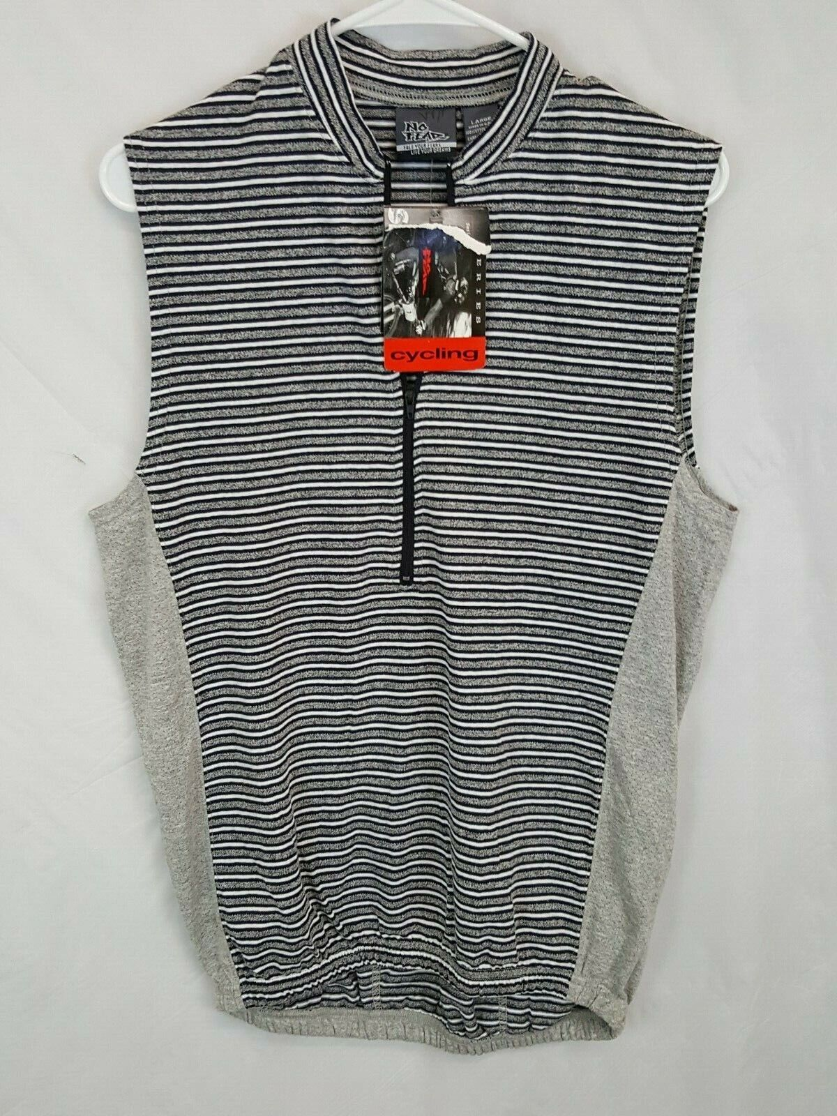 New NOS No Fear Striped Cycling Technical Jersey Vtg 90s Made In USA Size Large