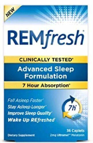 Remfresh Advanced Sleep Formulation 2mg Ultramel Melatonin 36 Caplets for  sale online | eBay