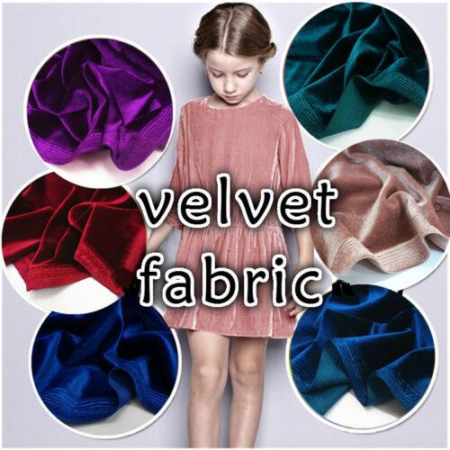 Velvet Fabric Pleuche Cloth Dress Cheongsam Curtain Craft Upholstery Black Adorn