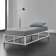 Metallbett 90x200 Schwarz Bettgestell Design Bett Schlafzimmer Metall en.casa