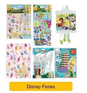 DISNEY FAIRIES COLOURING /& ART SETS Girl Arts//Stickers//Paint//Drawing