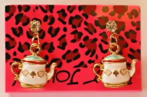 Betsey-Johnson-Crystal-Rhinestone-Enamel-Teapot-Post-Earrings