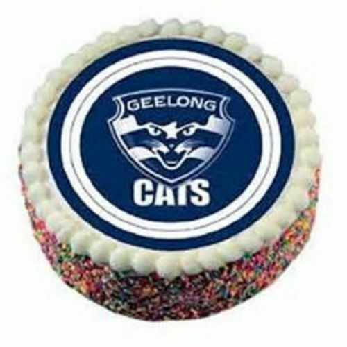 Official Afl Geelong Edible Icing Cake Topper For Sale Online