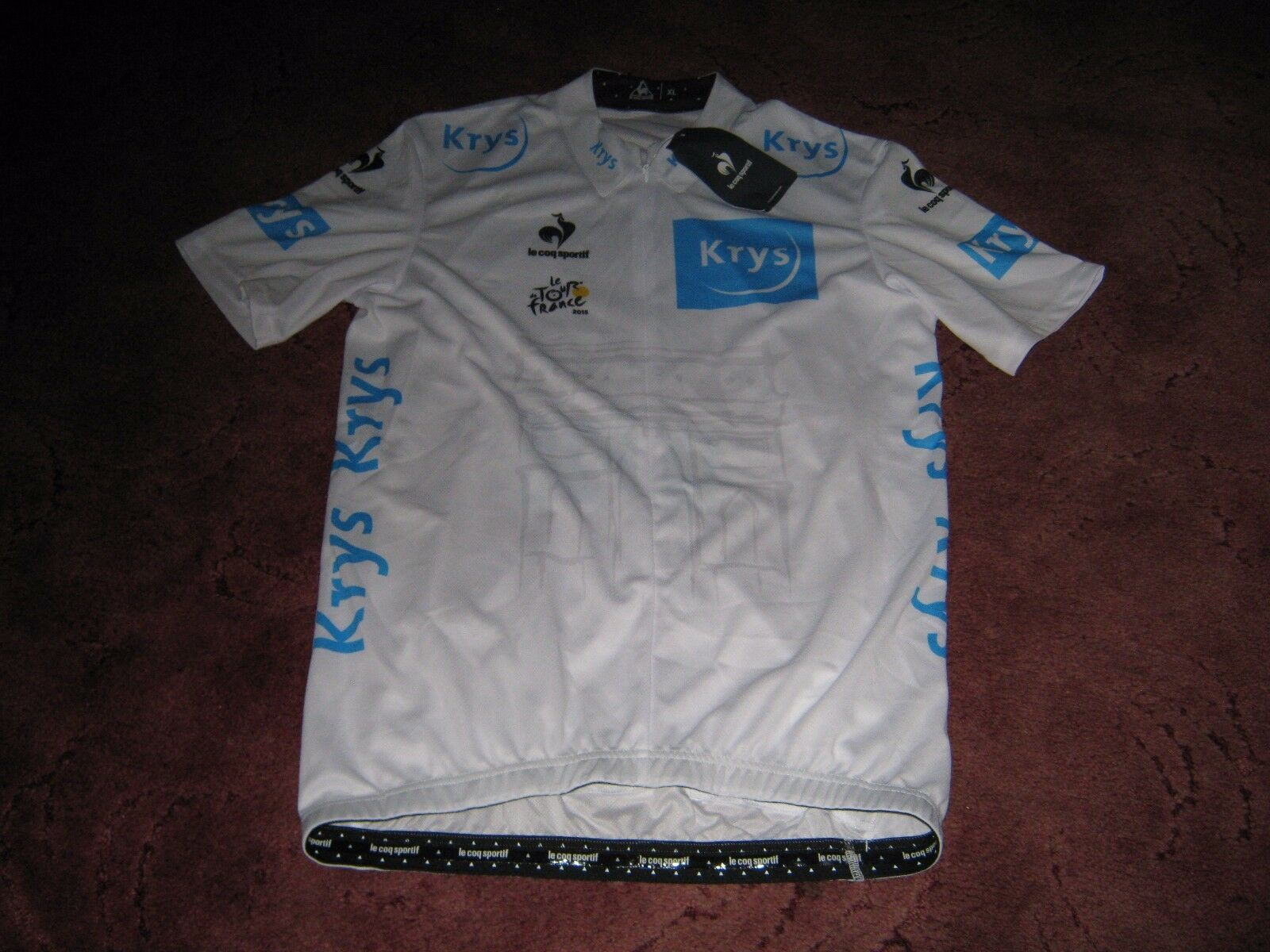 TOUR DE FRANCE 2015 NIKE YOUNG RIDER CLASSIFICATION  CYCLING JERSEY [XL] BNWT.  best offer
