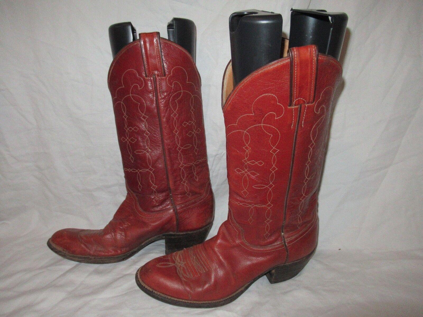 JUSTIN USA Made MENS MENS MENS Größe 8 braun Leather WESTERN COWBOY Stiefel MAKE OFFER a3979f