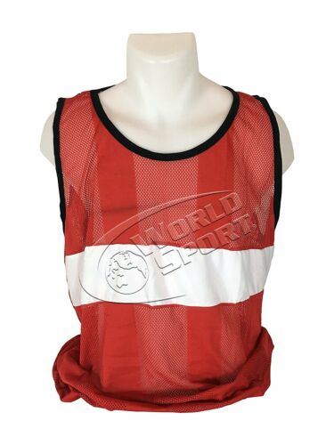 PRO SERIES Scrimmage Vests Set of 12 with Carry Bag bibs Red Mesh Jerseys