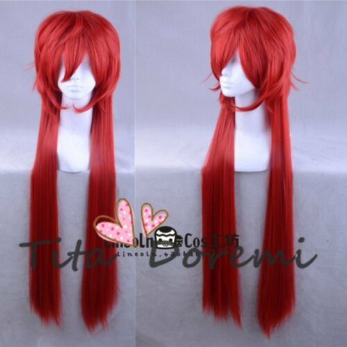 Halloween Wig Cosplay Black Butler grell red long party style fashion Hair
