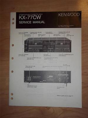 Kenwood Service Manual~KX-77CW Cassette//Tape Deck//Player~Original Repair