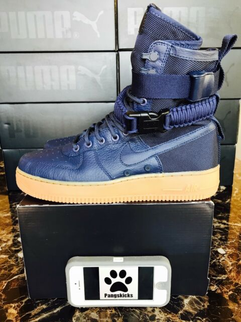 12dbd997b9e9 Mens Nike SF Af1 Air Force 1 Special Forces Midnight Navy Gum 864024-400  Size 8