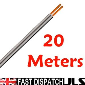 20M-Speaker-Cable-Wire-Car-Home-Stereo-Meter-13-0-2mm-Grey-Audio-figure-8-cable