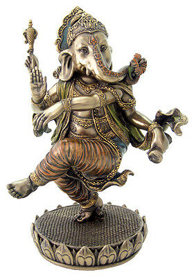 Dancing Ganesha On Lotus Statue Sculpture Figure-FATHER'S DAY GIFT