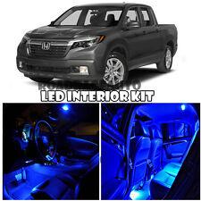 For 2006-2017 Honda Ridgeline Truck Full Interior LED Light bulb Kit (BLUE)