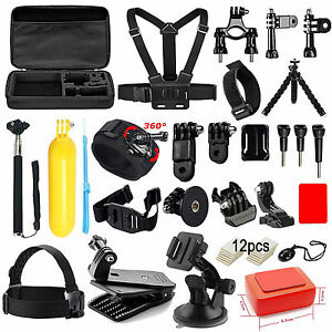 Accessories Kit for All GoPro HERO 5 4 3 3+ 2 1 Session Black & Silver Cameras