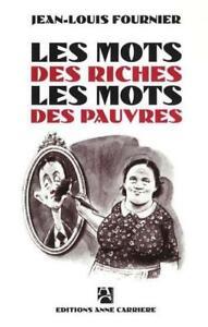 Les-mots-des-riches-les-mots-des-pauvres-Fournier-Jean-Louis-Occasion-Livre