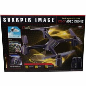 The Sharper Image Rechargeable 24 Ghz Dx 3 Video Drone Quadcopter