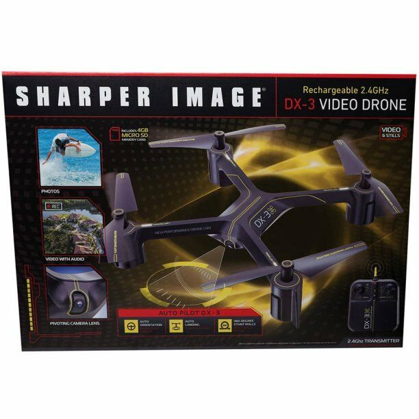Large Drone With 1080p Hd Video Camera Sharper Image Dx 3 144