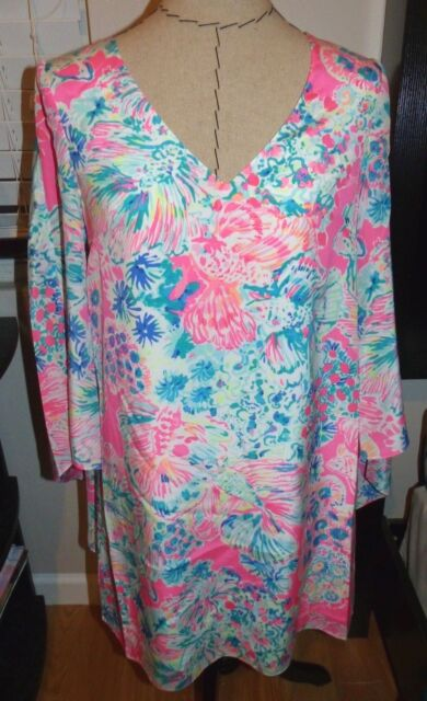 Buy Lilly Pulitzer Miri Silk Pink Caftan Dress Beach Cover Up Size 0
