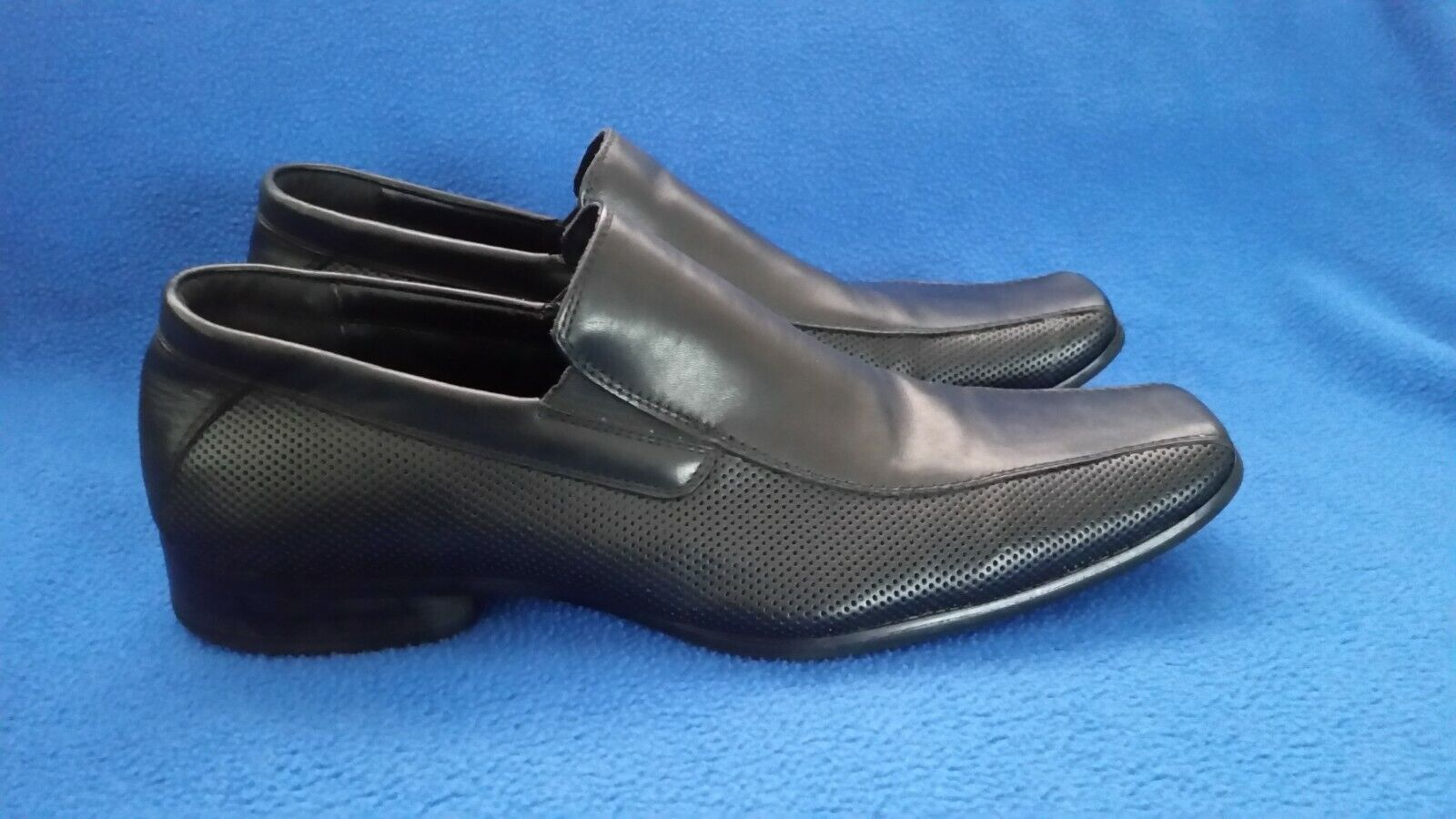 Kenneth Cole Reaction Men's Career Day Loafers Black Leather Dress Shoes Size 11
