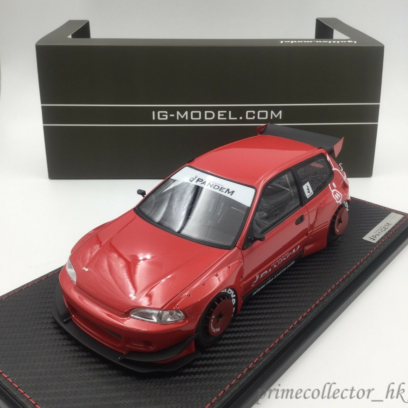 Ignition Models 1/18 PANDEM CIVIC (EG6) Red IG1050
