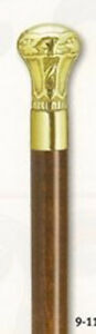 Solid-Cast-Brass-Handle-Cane-With-Solid-Brass-Inlay-Unisex