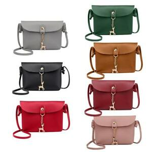 Image is loading Women-Mini-Leather-Satchel-Handbag-Shoulder-Tote-Messenger- b89da86f2