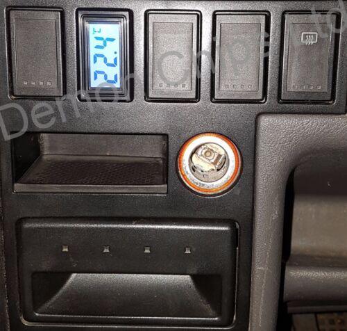 VW T4 Caravelle Dashboard Dash Blanc Bouton Interrupteur Couvercle Thermomètre numérique